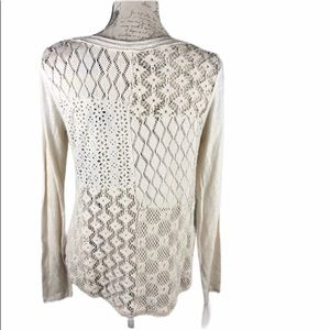 Free People long sleeve knit back t-shirt medium